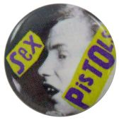 Sex Pistols - 'Johnny Yellow Logo' Button Badge